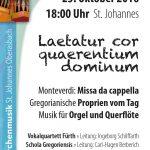 Konzert: Laetetur cor quaerentium dominum