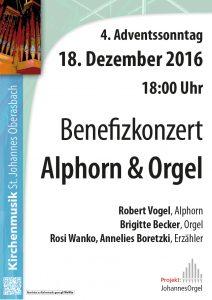 Benefizkonzert: Orgel und Vogelhorn