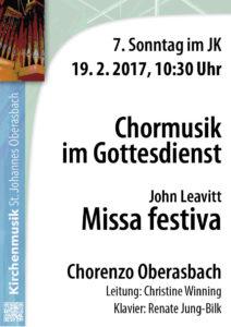 19.2.: Chormusik im Gottesdienst