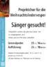 Sängerinnen und Sänger gesucht