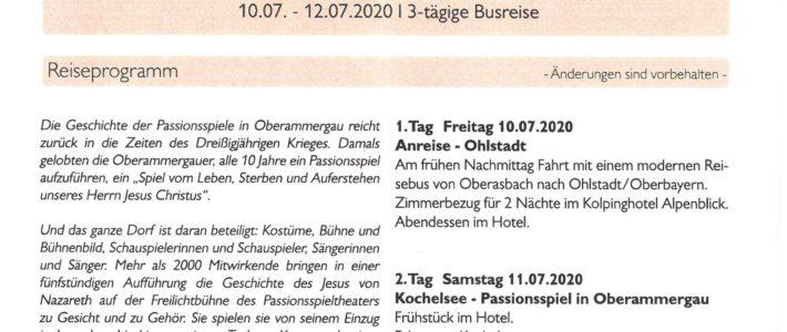 Jetzt anmelden: ökumenische Fahrt zu den Passionsspielen 2020 nach Oberammergau