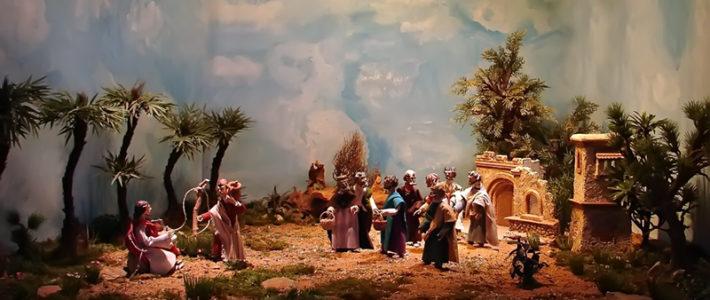 Jahreskrippe: Jesus in Samaria