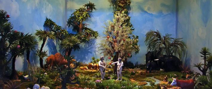 Jahreskrippe: Adam und Eva