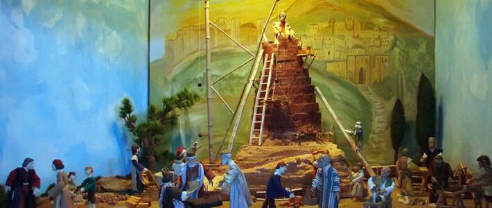 Jahreskrippe: Turmbau zu Babel