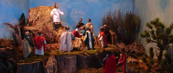 Jahreskrippe: Christi Himmelfahrt