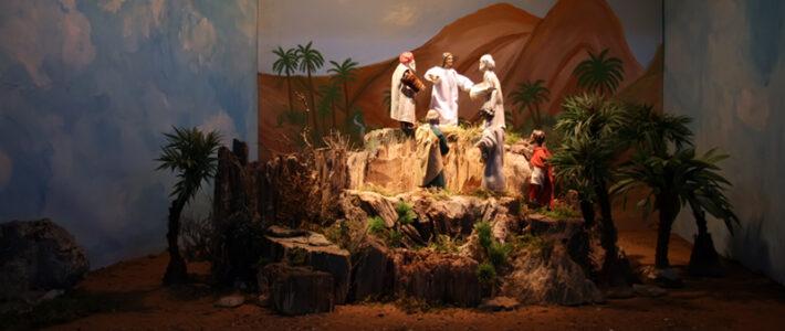 Jahreskrippe: Die Verklärung Jesu