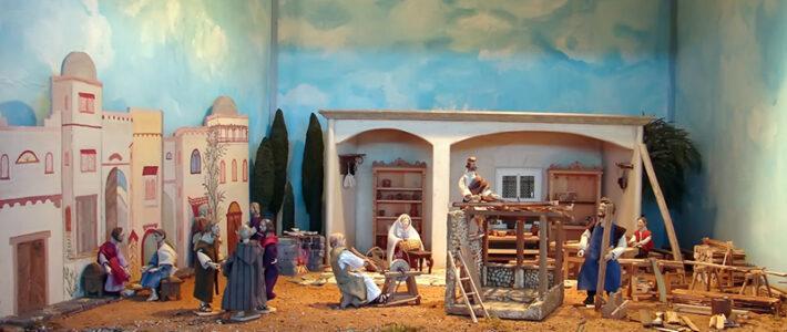Jahreskrippe: Der heilige Josef
